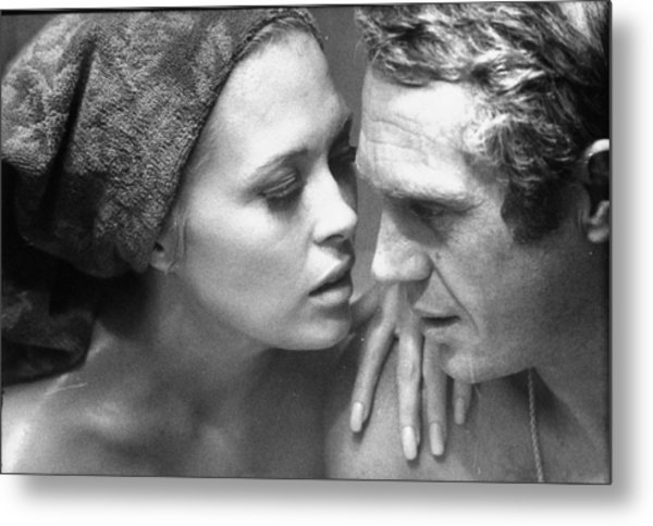 Faye Dunawaysteve Mcqueen Metal Print by Bill Ray