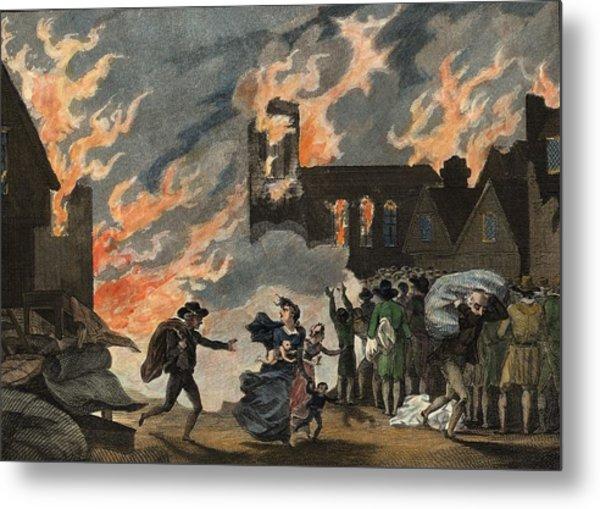 Fire Of London Metal Print by Hulton Archive