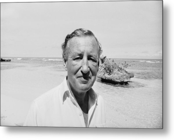 Fleming In Jamaica Metal Print by Harry Benson