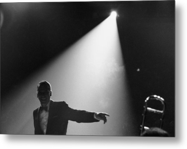 Frank Sinatra On Stage Metal Print