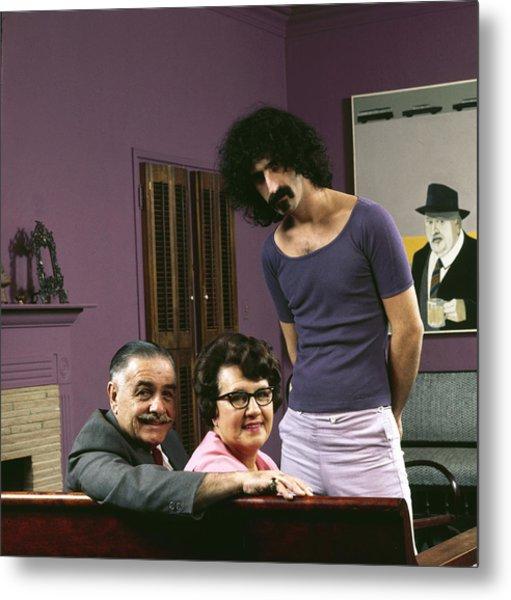 Frank Zappa & His Parents Metal Print