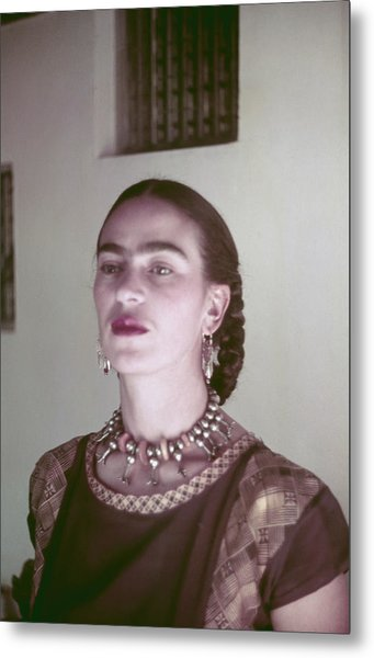 Frida Kahlo Metal Print by Michael Ochs Archives