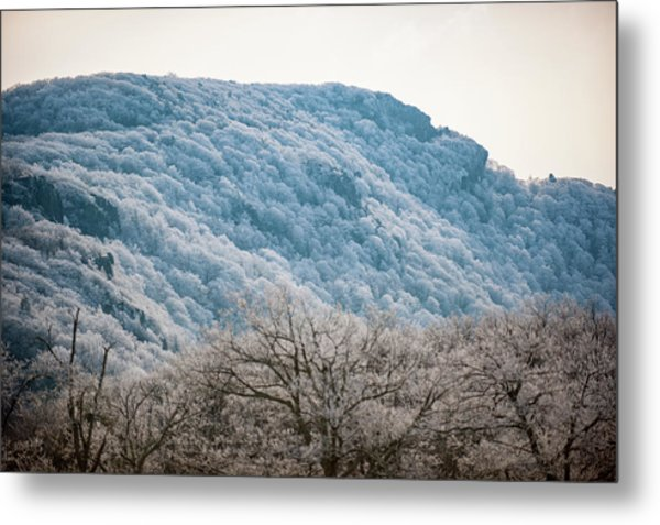 Frost On The Mountain Metal Print