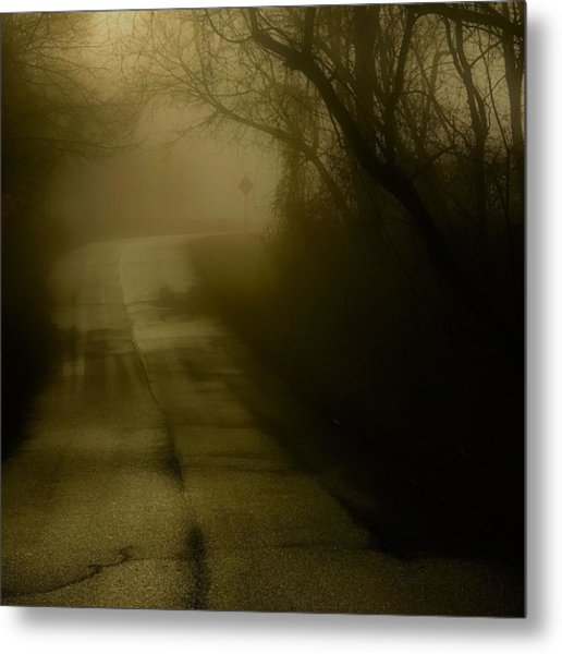 Golden Fog Metal Print