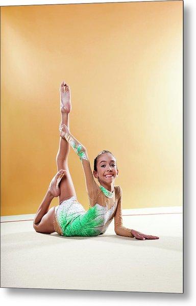 Gymnast, Smiling, Bending Backwards Metal Print by Emma Innocenti