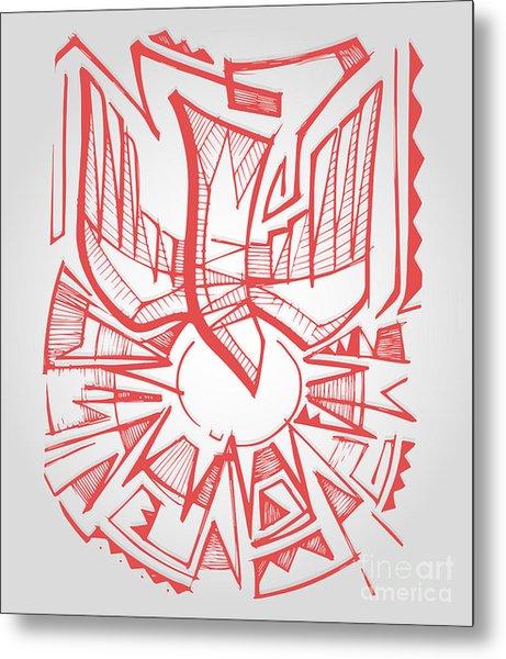 Hand Drawn Vector Illustration Or Metal Print
