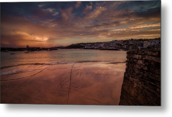 Harbour Sunset - St Ives Cornwall Metal Print