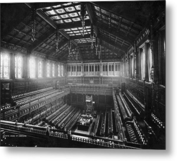 House Of Commons Metal Print by London Stereoscopic Company
