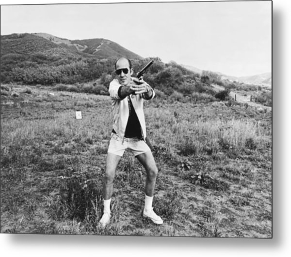 Hunter S. Thompson Metal Print by Michael Ochs Archives