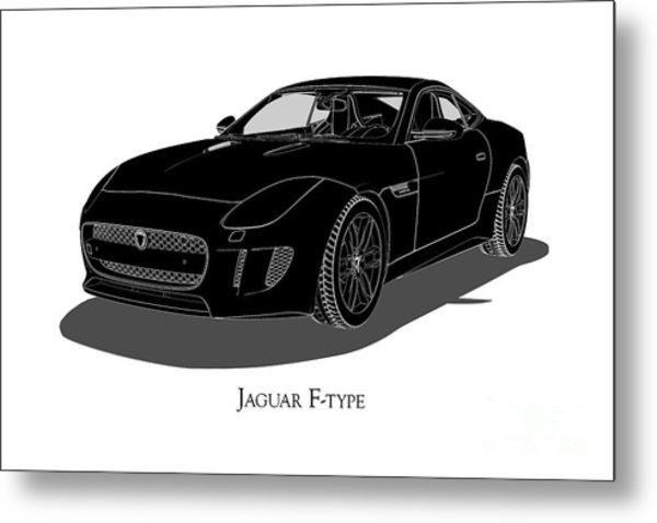 Jaguar F-type - Front View Metal Print