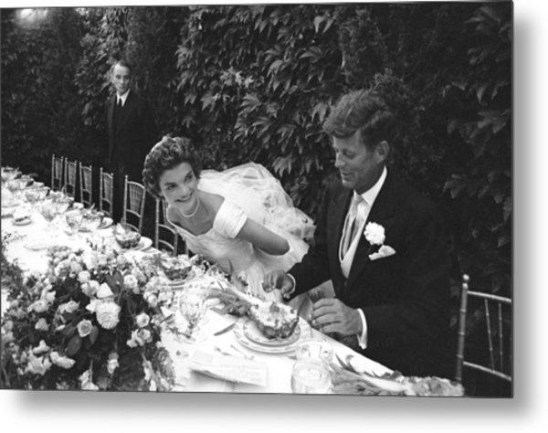 John F. Kennedy And Jacqueline Kennedy Metal Print by Lisa Larsen