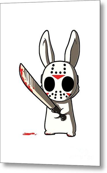 Killer Bunny Metal Print