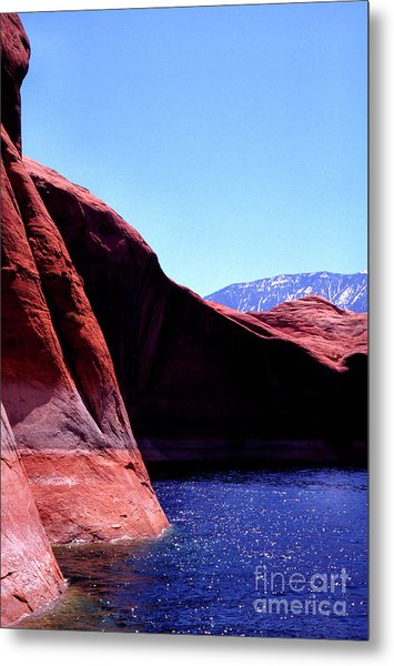 Lake Powell And Navajo Mountain Metal Print