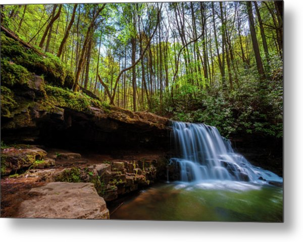Laurel Run Waterfalls In Tennessee Metal Print