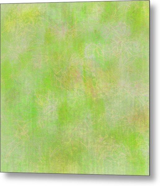 Lime Batik Print Metal Print