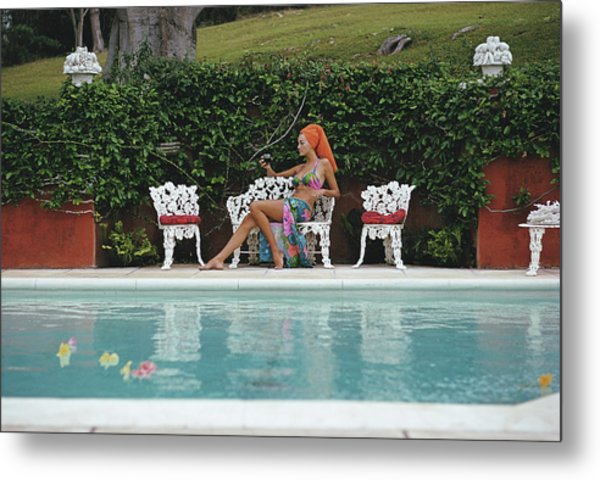 Lounging In Bermuda Metal Print