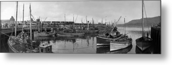 Mallaig Harbour Metal Print by Alfred Hind Robinson