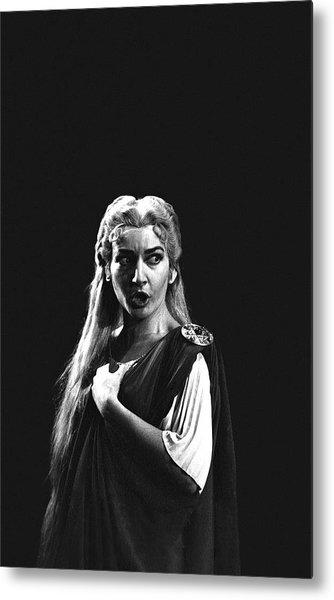 Maria Callas Metal Print by Gordon Parks