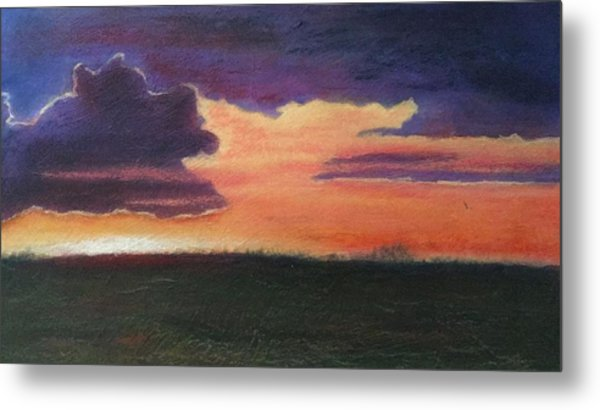 Marsh Sunset Metal Print