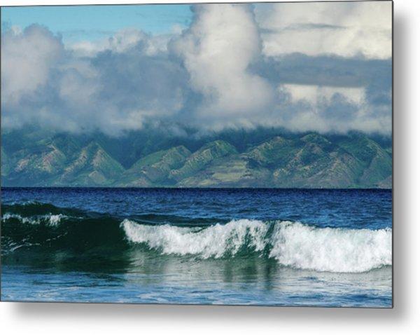 Maui Breakers Metal Print