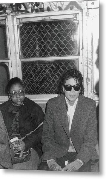 Michael Jackson In Bad Metal Print by Hulton Archive