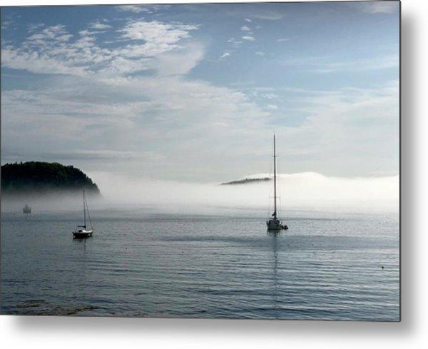 Morning Mist On Frenchman's Bay Metal Print