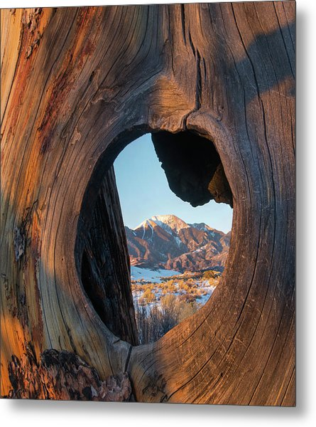 Mount Herard Framed, Great Sand Dunes Metal Print