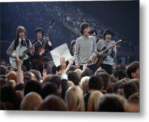 Music. 1964. London. The Rock Band The Metal Print by Popperfoto