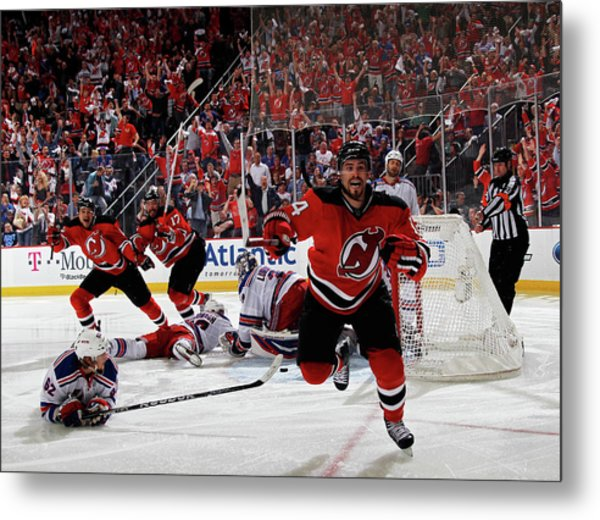New York Rangers V New Jersey Devils - Metal Print