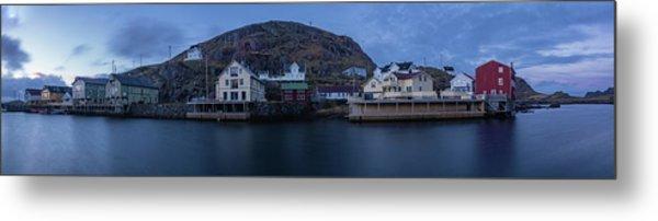 Norwegian Seaside Town Nyksund Metal Print