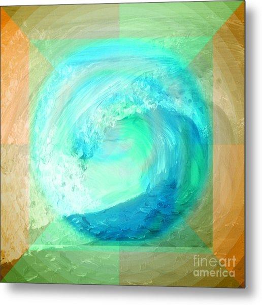 Ocean Earth Metal Print