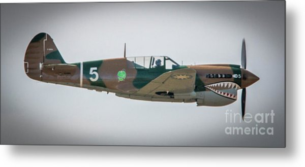 Metal Print featuring the photograph P-40 Warhawk by Tom Claud