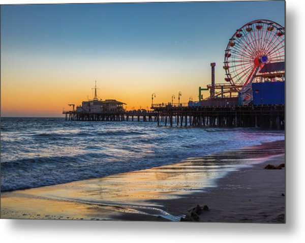 Pacific Park On The Pier Metal Print