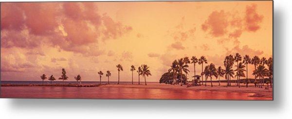 Panorama Beach Miami Metal Print by Thepalmer