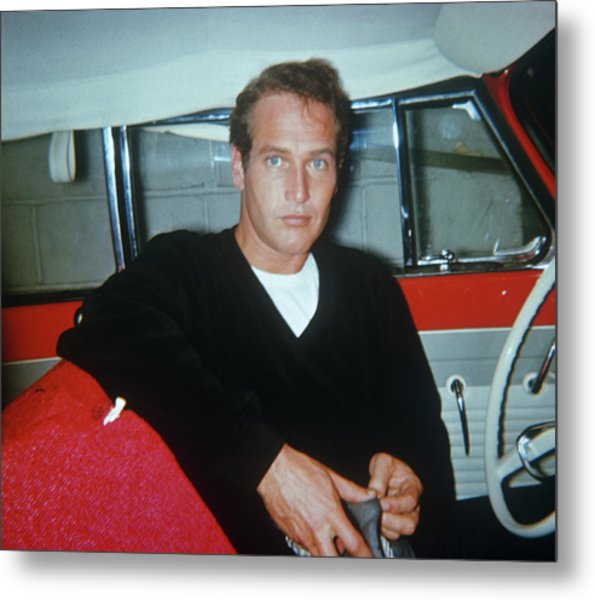 Paul Newman Metal Print by Art Zelin