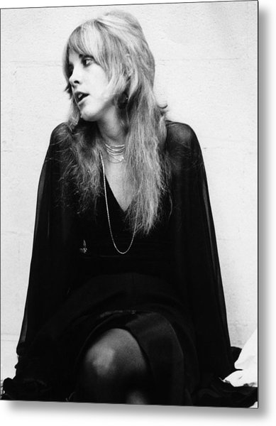 Photo Of Stevie Nicks And Fleetwood Mac Metal Print by Fin Costello