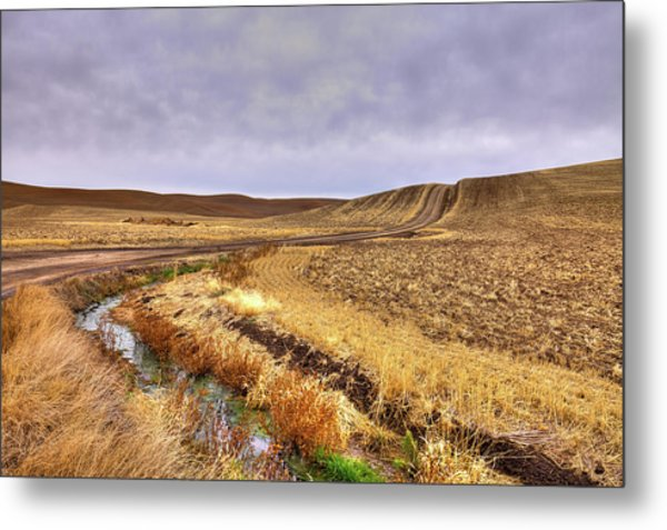 Metal Print featuring the photograph Plowed Under by David Patterson