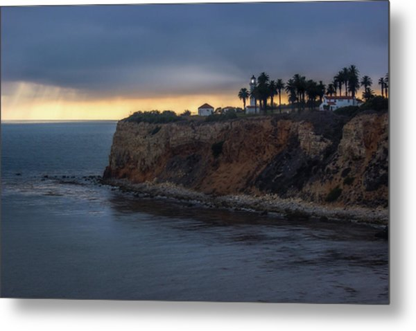 Point Vicente Lighthouse At Sunset Metal Print