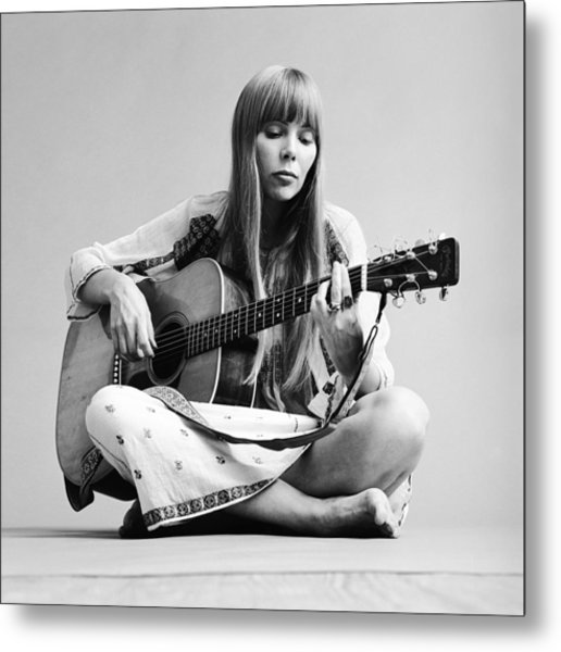 Portrait Of Joni Mitchell Metal Print by Jack Robinson