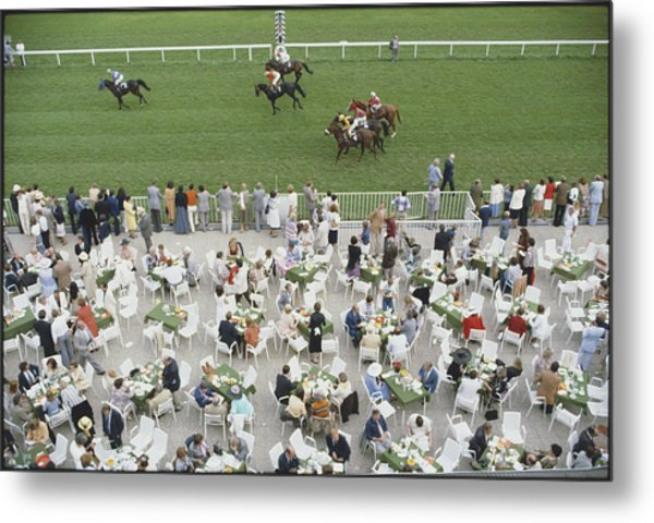 Racing At Baden-baden Metal Print