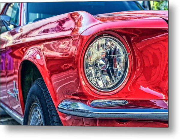 Red Vintage Car Metal Print