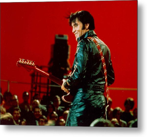Rock And Roll Musician Elvis Presley Metal Print