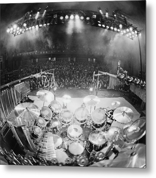 Rush In Concert Metal Print by Fin Costello
