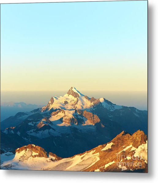 Scenic Alpine Landscape With And Metal Print