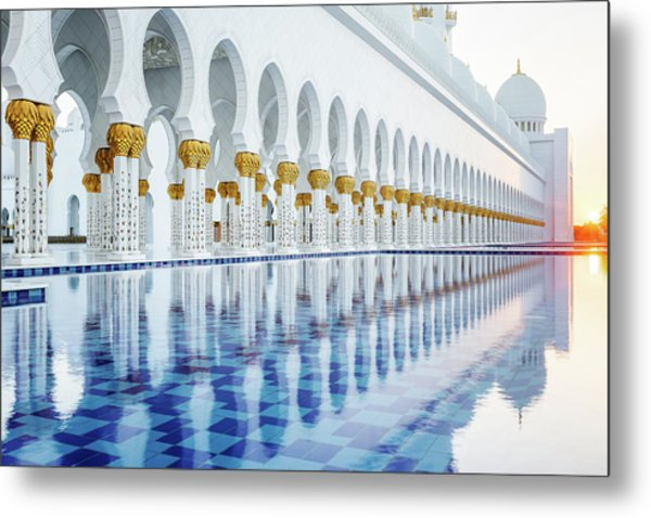Metal Print featuring the photograph Sheikh Zayed Grand Mosque by Nicole Young