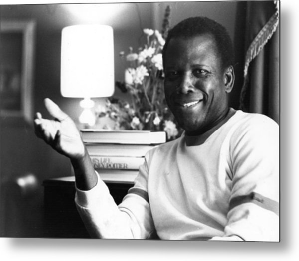 Sidney Poitier Metal Print by Evening Standard