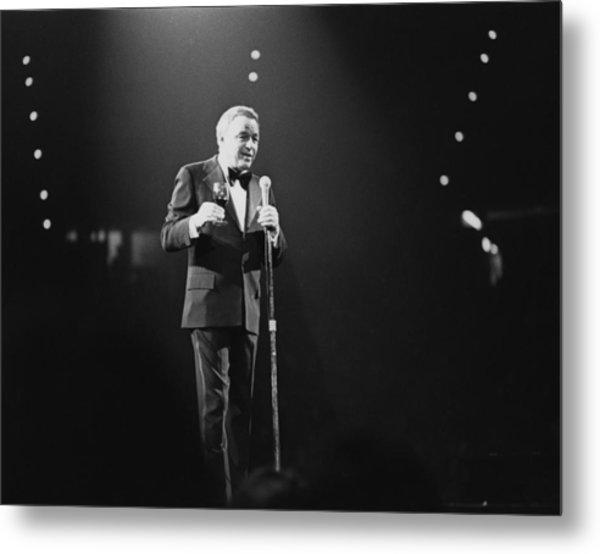 Sinatra On Stage Metal Print by David Redfern