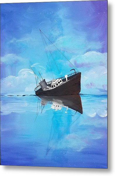 Metal Print featuring the painting Sinking Ship  by Jennah Lenae