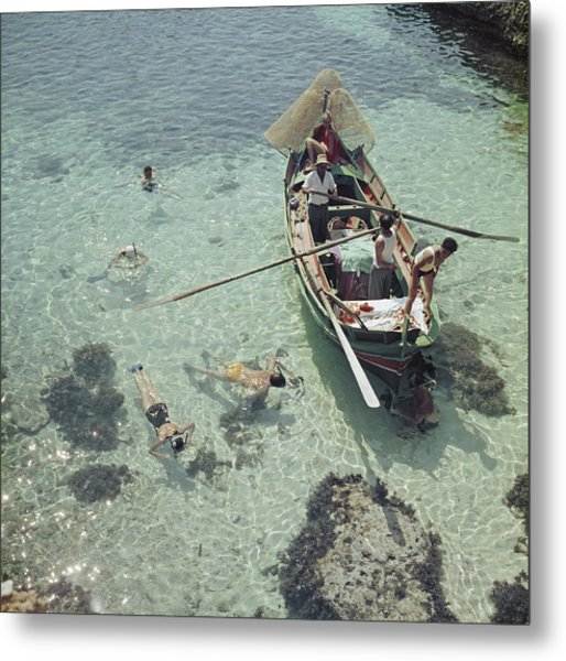 Snorkelling In The Shallows Metal Print