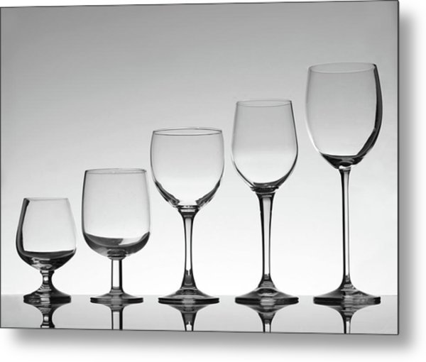 Stemware Metal Print by Donald gruener
